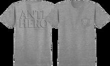 Anti Hero - Drophero Pocket Ss M-charcoal Heather - T-Shirt
