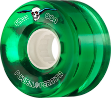 Powell Peralta - Clear Cruiser 69mm 80a Green - Skateboard Wheels (Set of Four)
