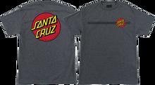 Santa Cruz - Classic Dot Ss M-charcoal Heather - T-Shirt