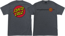Santa Cruz - Classic Dot Ss L-charcoal Heather - T-Shirt