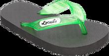"Locals - Original Slippa 7.0"" Blk/trans.green"
