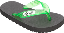 "Locals - Original Slippa 8.0"" Blk/trans.green"