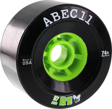 Abec 11 - Refly 97mm 74a Black/lime - Skateboard Wheels (Set of Four)