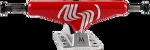 Silver - M-hollow 8.0 Red/raw - Skateboard Trucks (Pair)