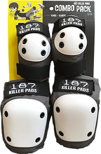 187 - Combo Pack Knee/elbow Pad Set S/m-grey - Skateboard Pads