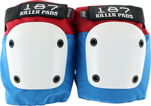 187 - Fly Knee Pads L-red/wht/blu W/wht - Skateboard Pads