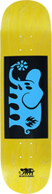 Black Label - Elephant Block Deck 8.0 Yel Stain/blk/blu - Skateboard Deck