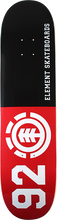 Element - 92 Classic Deck-8.0 Blk/red/wht - Skateboard Deck