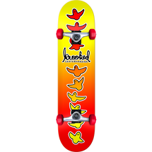 KROOKED - Birdical Fades Complete-8.0 Yel/red - Complete Skateboard