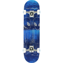 Alien Workshop - Blueprint Complete-7.62 Blue/wht - Complete Skateboard