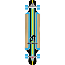 LAYBACK LONGBOARDS - Finish Line Bamboo Dt Complete-9.75x40 Blu - Complete Skateboard