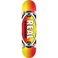 Real - Oval Fades Complete-7.7 Yel/red - Complete Skateboard