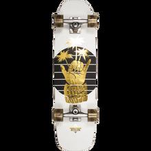 """Duster - Shaka Cruiser 29"""" Complete-8x29 Wht/gold - Complete Skateboard"""