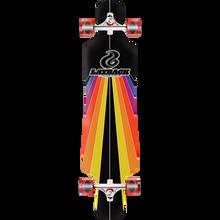 LAYBACK LONGBOARDS - Sunstripe Dt Complete-9.75x40 Black - Complete Skateboard