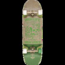 "Duster - Vibes Complete-9.37x33"" Hemp/grn - Complete Skateboard"