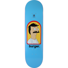Habitat - Bob's Burgers Burger Deck-8.25 Blue - Skateboard Deck