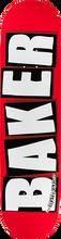 Baker - Brand Logo Deck-8.5 Red/wht - Skateboard Deck