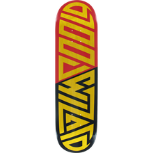 Blood Wizard - Wizard Future Wasteland Deck-8.25 Yel/red/bk - Skateboard Deck
