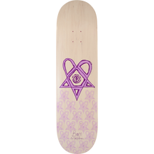 Element - Bam Heartagram Deck-8.5 Tyson Wht/pur - Skateboard Deck