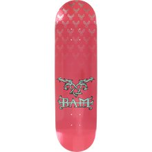 Element - Bam Heartagram Deck-8.5 Pink/silver - Skateboard Deck