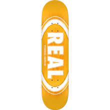 Real - Oval Burst Fade Renewal Deck-8.06 Yellow - Skateboard Deck
