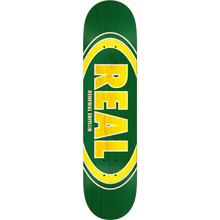 Real - Oval Duofade Renewal Deck-7.75 Grn/yel Ppp - Skateboard Deck