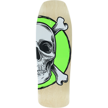American - Nomad Spoon Square Dk-10x31.75 Nat/wt/grn - Skateboard Deck