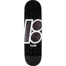 PLAN B - B Stained Deck-8.3 Black - Skateboard Deck