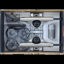 INDUSTRAL TRUCKS - Comp-pk 5.25 Raw W/blk/wht Swirl 52mm - Skateboard Trucks (Pair)