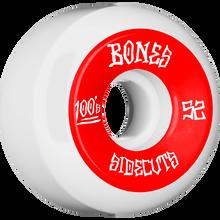 Bones Wheels - 100's V5 Og Sidecut#2 52mm White W/red - Skateboard Wheels (Set of Four)