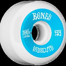 Bones Wheels - 100's V5 Og Sidecut#2 53mm White W/blu - Skateboard Wheels (Set of Four)