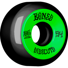 Bones Wheels - 100's V5 Og Sidecut#2 54mm Black W/grn - Skateboard Wheels (Set of Four)