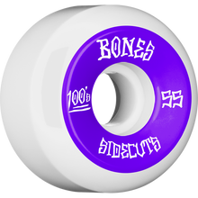 Bones Wheels - 100's V5 Og Sidecut#2 55mm White W/pur - Skateboard Wheels (Set of Four)