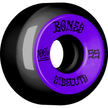 Bones Wheels - 100's V5 Og Sidecut#2 55mm Black W/pur - Skateboard Wheels (Set of Four)