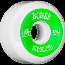 Bones Wheels - 100's V5 Og Sidecut#2 54mm White W/grn - Skateboard Wheels (Set of Four)