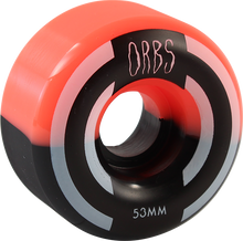 Orbs - Apparitions Split 53mm 99a Coral/blk - Skateboard Wheels (Set of Four)