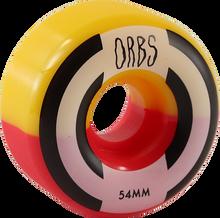 Orbs - Apparitions Split 54mm 99a Red/yel - Skateboard Wheels (Set of Four)