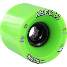 Abec 11 - Bigzig Hd 75mm 80a Lime/black - Skateboard Wheels (Set of Four)