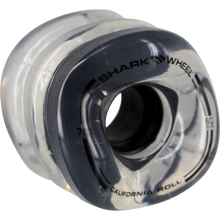Shark Wheels - California Roll 60mm 78a Clear W/black Hub - Skateboard Wheels (Set of Four)