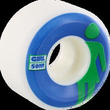 Girl - Classic Og Conical 50mm Wht/blu/grn - Skateboard Wheels (Set of Four)