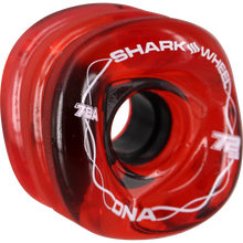 Shark Wheels - Dna 72mm 78a Trans.red/wht - Skateboard Wheels (Set of Four)