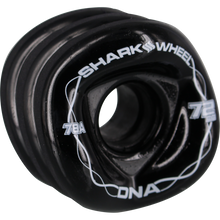 Shark Wheels - Dna 72mm 78a Solid Black/wht - Skateboard Wheels (Set of Four)