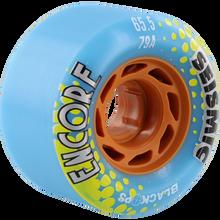 Seismic - Encore 65.5mm 79a Blue Black Ops - Skateboard Wheels (Set of Four)