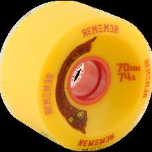 Remember Wheels - Hoot 70mm 74a Yel/pink - Skateboard Wheels (Set of Four)