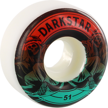 Darkstar - Magic 51mm Wht W/red/teal Fade Ppp - Skateboard Wheels (Set of Four)