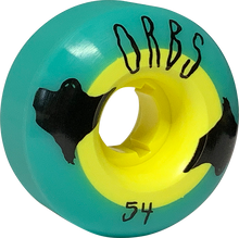 Orbs - Poltergeist 54mm 99a Teal/yel - Skateboard Wheels (Set of Four)