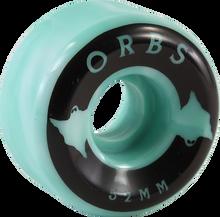 Orbs - Specters Swirl 52mm 99a Teal/wht  - Skateboard Wheels (Set of Four)