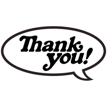 Thank you - You Bubble Decal Single