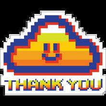 Thank you - You Gamer Cloud Decal Single