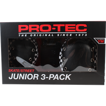 Pro Tec - Junior 3 Pack Box Ym-check Blk/wht - Skateboard Pads